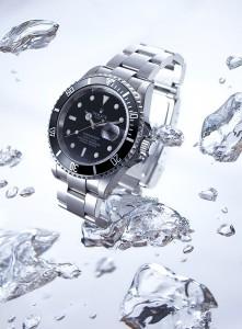horloge in water